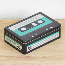 Retro Cassette Tape Storage Tin 2.5L Vintage Metal Lunch Box Food Container Gift