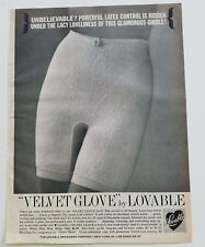 1961 LOVABLE women's velvet glove girdle vintage fashion latex control ad