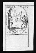 santino incisione 1600 S.CRISTINA DI BOLSENA V.  M.  j. callot