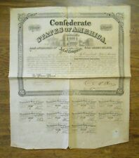 Confederate States of America $1000 Bearer Bond w/Coupons 1863 Issue Hand Signed