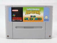 Super Mario All Stars Super Mario World SNES Nintendo Cartridge Only PAL