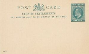 STRAITS SETTLEMENTS 1903  ISSUE ONE  CENT  POSTAL STATIONERY CARD UNUSED
