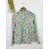J. Crew The Perfect Shirt Long Sleeve Button Up Multi Color Floral Womens Medium
