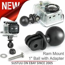 "Ram Mount 1"" Diameter Ball Adapter|For All GoPro Hero & Garmin VIRB X/XE Cameras"