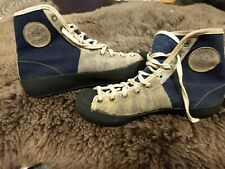 Vintage French Climbing Shoes boots canvas suede leather Gratton Super Eb
