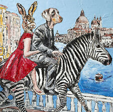 GILLIE AND MARC-direct from the artists-authentic artistic print Zebra travel
