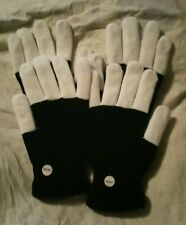 2 Pairs Blinking Light Up LED Flashing Stretch Gloves Finger Mitts One Size Fits