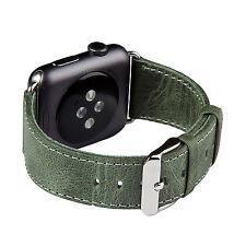 Apple Watch band, FUTLEX 42mm - Green Genuine Heritage Leather Strap