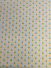 Fresh Market Pineapples Blue Yellow Riley Blake Fabric FQ + More 100% Cotton
