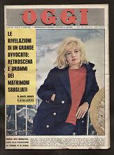 OGGI 10/1963 MONICA VITTI ALBERTAZZI PROCLEMER ALAIN DELON ROMY SCHNEIDER SPAAK