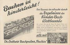 Y4564 Dr. Oetker's Backpulver Backin - Pubblicità d'epoca - 1929 Old advertising