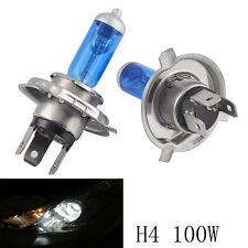 2X H4 9003 HB2 H/L Xenon White 100W 12V 5000K Bright Halogen Headlight Bulb Lamp