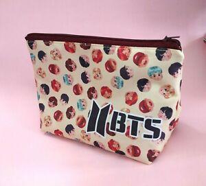 BTS Large Pencil case School Zipper Pouch Kpop Bangtan Boys Suga Jeon Jung‑kook