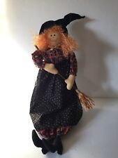 Witch Doll Halloween Decoration Figure Hanging 23 Inches Fall Harvest