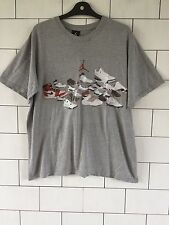 USA VINTAGE RETRO GREY MICHAEL JORDAN BASKETBALL SHORT SLEEVE T SHIRT TOP M #6
