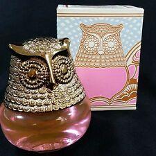 Avon Owl Fancy Roses Roses Cologne Gelee Perfume Bottle Decanter Original Box