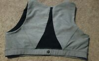 LULULEMON GRAY SPORTS BRA W/BLACK PARTIAL MESH BACK SIZE 12
