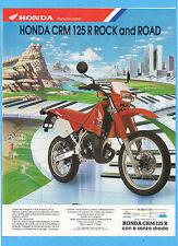 MOTOSPRINT989-PUBBLICITA'/ADVERTISING-1989- HONDA CRM 125 R