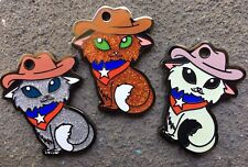 Western Wildcat Texas Kitty Cat Geocoin SET OF 3 Collectible Geocaching Tokens
