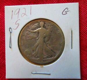 1921 S (G) WALKING  LIBERTY  HALF DOLLAR SILVER
