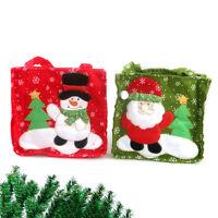 2pcs Christmas Santa Claus Snowman Candy Bag Kids Gift Bag Party Tree Decor AU