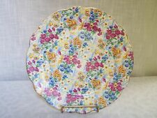 Sussex Cheery Chintz Floral Plate Germany 9 3/4""