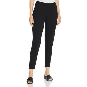 Eileen Fisher Womens Black Stretch Ankle Sweatpants Jogger Pants L BHFO 7962