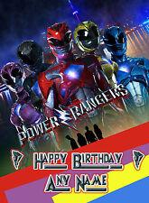 - POWER RANGERS MOVIE - CHILDRENS PERSONALISED BIRTHDAY GREETING CARD
