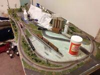 "3x6'8"" n scale model railroad layout"