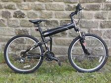 "Montague X50 Black Full Size Folding Bike 18"" Frame Great Condition"