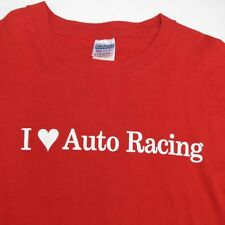 I LOVE HEART AUTO RACING TEE T SHIRT Sz Mens L car