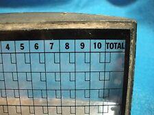 Bowling Alley Scoreboard Glass Prism