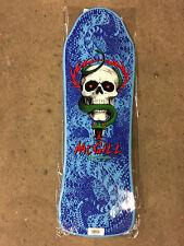 Powell Peralta Old School McGill Skull Snake Bones Brigade Skateboard Deck Blue