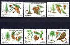 Flore - Arbres et Plantes Roumanie (76) série complète de 6 timbres oblitérés