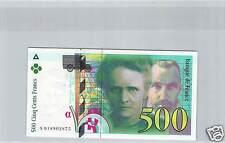 FRANCE 500 FRANCS PIERRE & MARIE CURIE 2000 N° S018902875