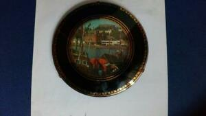 N001 1950's Wall Decor Vintage Retro Fun Kitsch Wall Plaque Round Black Domed Fr