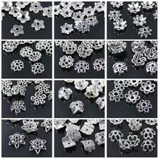 50pcs Tibetan Silver Flower Bead Caps Loose Spacer Beads lot DIY Jewelry Making