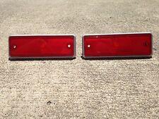 1978-1987 El Camino NEW Red Rear Side Marker Lens Light Pair