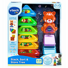 NEW  V TECH VTECH BABY STACK SORT & STORE TREE PLAYS 100+ SONGS NUMBERS ACTIVITY
