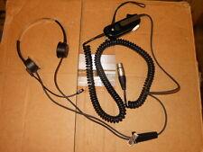 PLANTRONICS SHS1313 push to talk Aviation Headset Neutrik NC5FX XLR 5-pin Plug