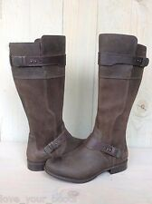 UGG DAYLE LODGE BROWN LEATHER AWESOME RIDING BOOTS US 7 EU 38 NEW