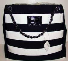 CHANEL NEW IN BOX 09C Black/White Grand Shopping Tote Silver Hardware Reissue