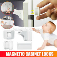 Magnetic Cabinet Locks Child Baby Lock Proof Safety Cupboard Door Drawer Kitchen