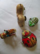 Lot of 4 Tin Litho Wind-up Toys Circa 1950s. Made in Japan.