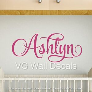 Nursery Name Wall Decal Personalized Teen Girl Room Decor Toddler Baby Sticker