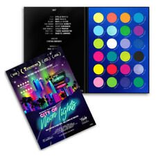 RUDE City of Neon Lights - 24 Vibrant Pigment & Eyeshadow Palette (Free Ship)