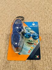 New listing Aqua Sphere Moby Kid's Goggles Blue with Clear Lens