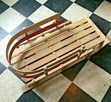 Classic LL Bean Kids Wooden Pull Sled 39 x 19 wood toboggan