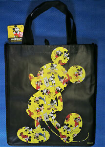 @DISNEY 90 YEARS MICKEY MOUSE SILHOUETTE LARGE REUSABLE TOTE/SHOPPING/GIFT BAG@