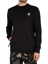 G-Star Men's Box Logo Pocket Tweater Sweatshirt, Black